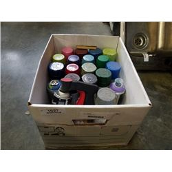 BOX OF SPRAY PAINT