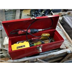 RED BEACH TOOLBOX WITH CONTENTS