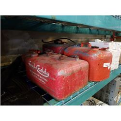 4 METAL BOAT GAS CANS