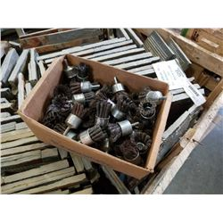 BOX OF WIRE BRUSH DRILL BITS