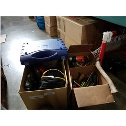 2 BOXES OF TOOLS AND POWER TOOLS