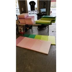 LOT OF EXERCISE/GYM MATS PINK AND GREEN