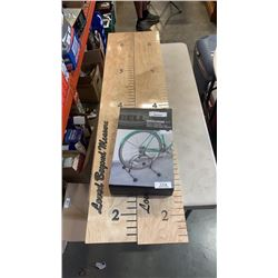 2 WALL RULER DECORATIONS AND ROLLING 1 BIKE STAND
