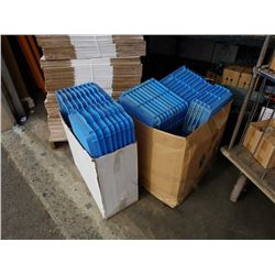 Large lot of new blue parts trays