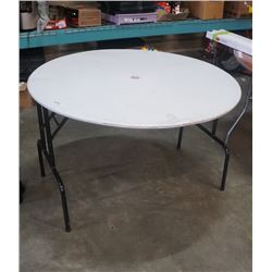 ROUND FOLDING TABLE - 4 FOOT DIAMETER