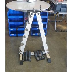 ANKLE WEIGHTS AND DUMBELL STAND