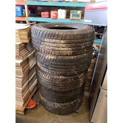 5 MICHELIN TRUCK TIRES 265/70R15 INCH TIRES 1 DOESN'T MATCH