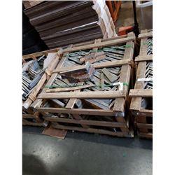 PALLET OF EXTERIOR CORNER STONE TILES ZEERA MUSHROOM 45 X 15 X 2-4CM  APX 195 PIECES