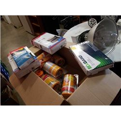Box of new various filters vacuum, humidifier and more