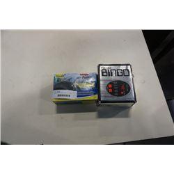 EXEC-U-PLAY BINGO GAME AND TETRA WHISPER AIR PUMP  10-30  GALLON AQUARIUM PUMP