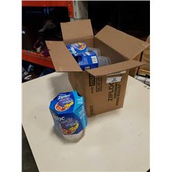 Box of 6 sets Ziploc Twist 'N Loc, Medium Round, Containers & Lids