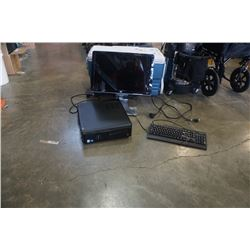 Dell Tower with Windows 10 500 GB HDD 4GB DDR3 RAM with monitor keyboard and mouse
