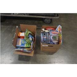 2 BOXES KIDS BOOKS AND TOYS