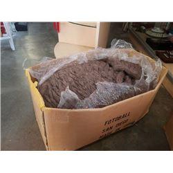Box of brown New Zealand wool yarn