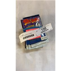 15 UNOPENED PACKS OF CARDS MARVEL/UNIVERSE, DC COMIC CARDS, STAR TREK, SPAWN, BASEBALL, AWESOME ALL