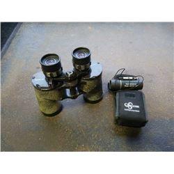 Two sets of binoculars