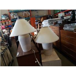 2 ceramic table lamps