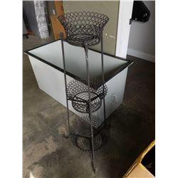 Decorative metal three tier plant holder