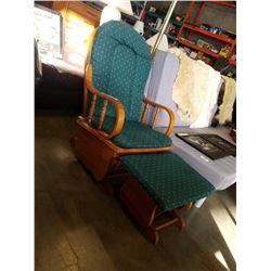 GLIDER ROCKER WITH BENTWOOD ARMS AND OTTOMAN