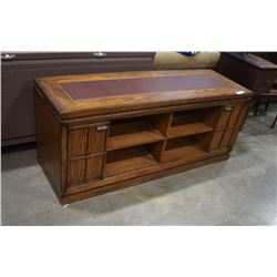 LEATHER TOP MEDIA CABINET