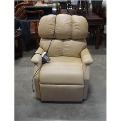 GOLDEN TECHNOLOGIES ITALIAN LEATHER POWER LIFT CHAIR - RETAIL $1800