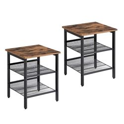 BRAND NEW PAIR OF MODERN INDUSTRIAL END TABLES RETAIL $189