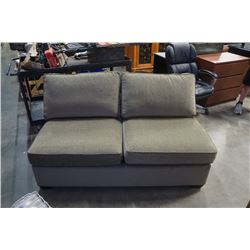 GREEN HIDEABED LOVESEAT