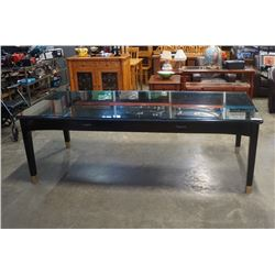 BLACK EXECUTIVE DESK/ DINING TABLE - APPX 8 FOOT BY 41 INCHES