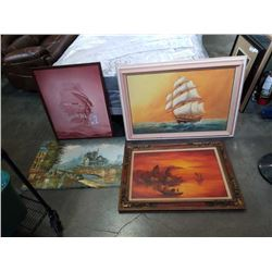 LOT OF OIL PAINTINGS