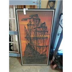 TALLSHIP PAINTING ON CANVAS