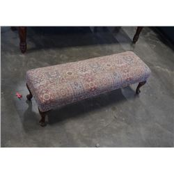 VINTAGE QUEEN ANNE FIRESIDE BENCH