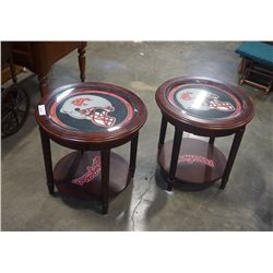 2 washington state cougars shadow box endtables