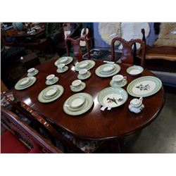 6 PLACE SETTING APPLEBEE COLLECTION MADE IN ENGLAND PLATE AND BOWL SET WITH 6 TEACUPS AND SAUCERS, S
