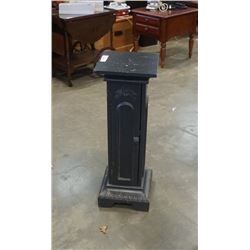 WOOD PEDESTAL WITH DOOR