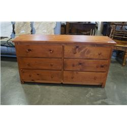 6 DRAWER PINE DRESSER - APPX 5 FOOT LONG