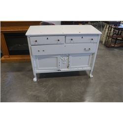 CLAW FOOT 3 DRAWER SERVER - PAINTED WHITE