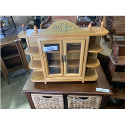 OAK KNICKNACK DISPLAY CASE