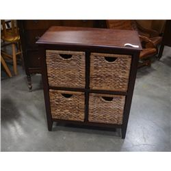 MODERN STAND WITH 4 WICKER DRAWERS