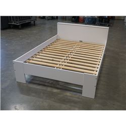 WHITE DOUBLE SIZE BED FRAME