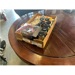 BOX OF POTPOURRI AND CRAFT SUPPLIES