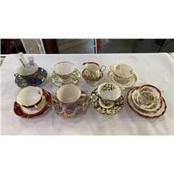 LOT OF CHINA CUPS AND SAUCERS - ROYAL ALBERT, SPODE, CHINTZ, HAMMERSLEY, ROYAL STAFFORD