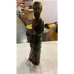 THE APOSTLE CARVED WOOD FIGURE CA 1960