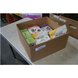 BOX OF HEALTH ITEMS, BLOOD PRESSURE MONITORS