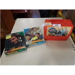 VINTAGE HAPPY DAYS LUNCH KIT WITH FONZ PLUS 2 - 1967 HAPPY DAY JIGSAW PUZZLES COMPLETE WITH THE FONZ