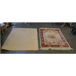 2 AREA CARPETS - APPROX 41 AND 47 INCHES