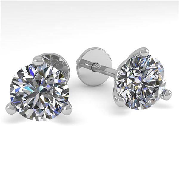 1.53 ctw Certified VS/SI Diamond Stud Earrings Martini 14k White Gold - REF-196R6K