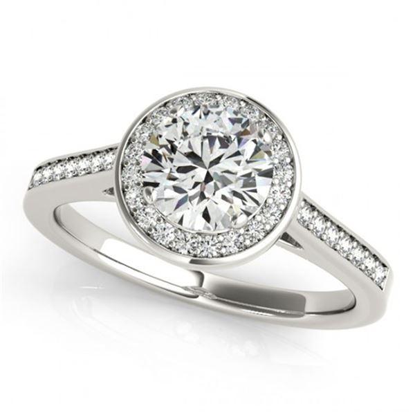 1.33 ctw Certified VS/SI Diamond Halo Ring 18k White Gold - REF-306W3H
