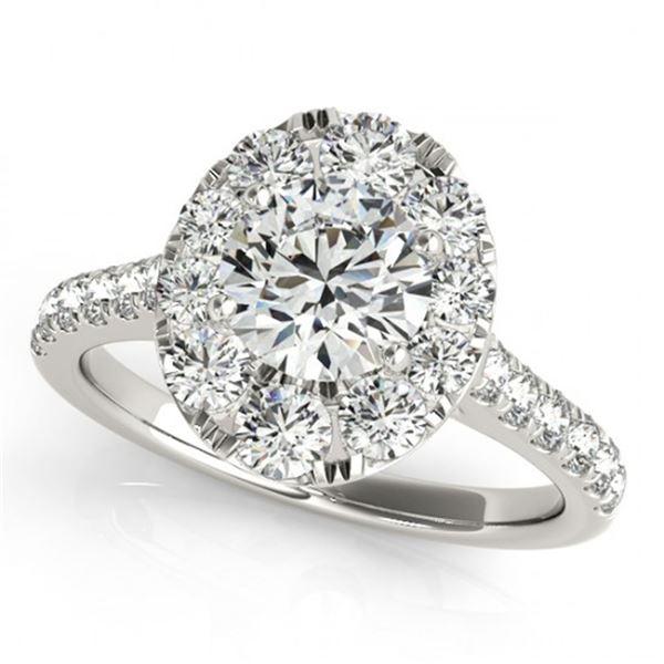 2 ctw Certified VS/SI Diamond Halo Ring 18k White Gold - REF-318H3R