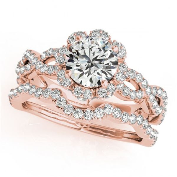1.93 ctw Certified VS/SI Diamond 2pc Wedding Set Halo 14k Rose Gold - REF-315X3A