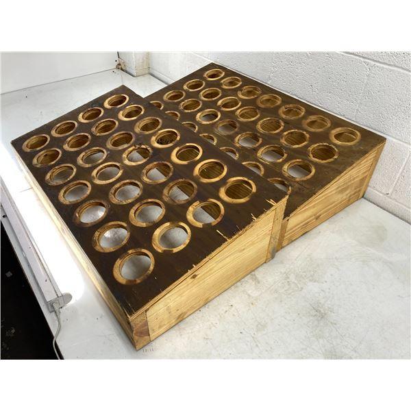 (2) 50 Taper Wood Racks